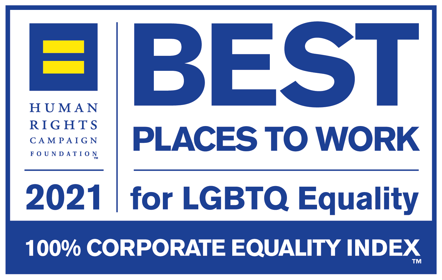 2021 Best Place to Work for LGBTQ Equality